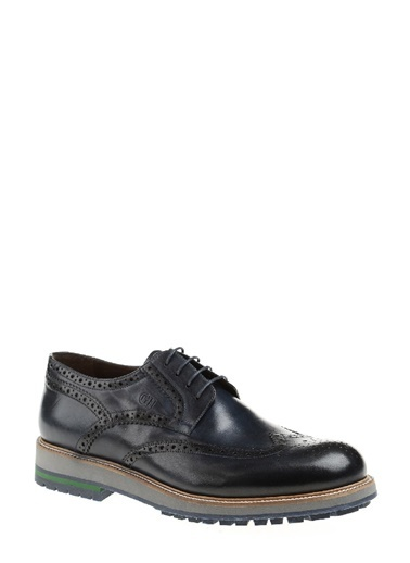 George Hogg %100 Deri Oxford Ayakkabı Lacivert